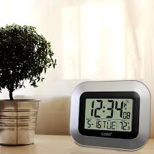 digital office wall clocks. contemporary wall amazoncom la crosse technology wt8005us atomic digital wall clock with  indoor temperature silver home u0026 kitchen to office clocks e