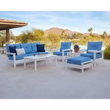 patio furniture white. Prescott 6-piece Deep Seating Set POLYWOOD Patio Furniture White A