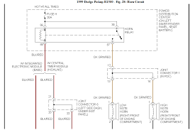 1999 dodge ram 1500 a layout diagram for the fuses horn