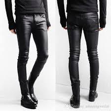 2019 korean style black skinny jeans men coated denim pants washed long pencil pants slim fit boots jeans m l xl l from amazingweilai 37 57 dhgate com