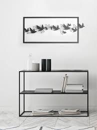 metal wall art flying birds minimalist