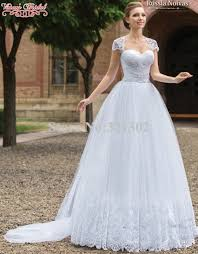 Ball Sleeves Design 2015 New Design White Wedding Dresses Appliques Lace Beading