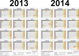 printable year calendar 2013 two year calendars for 2013 2014 uk for word