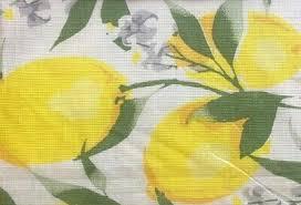 TABLECLOTH Laura Ashley LEMONTWIST Flannel Back Vinyl /Lemon s - $12.88 |  PicClick