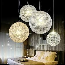 modern k9 crystal ball pendant lamp crystal pendant light 15cm 20cm 25cm 30cm round ball chandeliers living room bedroom ceiling lighting canada 2019 from