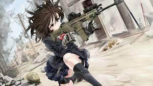 anime gun wallpaper 1920x1080. Plain Anime Anime Girl With Gun HD Wallpaper 1920x1080 Throughout Wallpaper Vortex