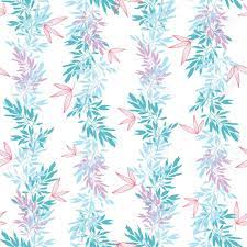Vector Blue Pink Tropical Leaves Summer ...