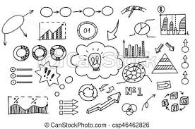 Hand Drawn Doodle Element Chart Graph Diagram Concept Business And Finance Analytics Earnings