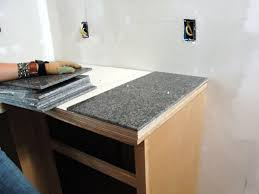 Kitchen Countertop Tile How To Install A Granite Tile Kitchen Countertop How Tos Diy