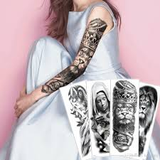 большой большой полный рука поддельные черный временный боди арт татуировки