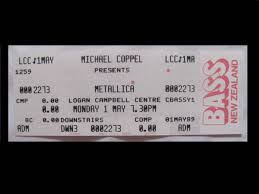 Metallica Seattle Seating Chart Metallica 1988 89 Damaged Justice Tour New Zealand Original