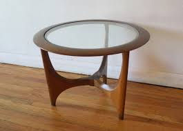 mid century modern side end table by lane picked vintage
