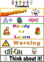 Fourth Grade Behavior Chart Behavior Chart Classroom Ideas Behaviour Chart Behavior