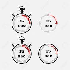 Set Timer For 15 Timer 15 Seconds On Gray Background Stopwatch Icon Set Timer