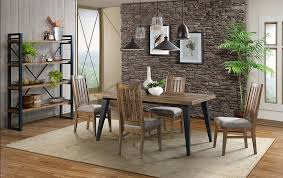 Urban rustic furniture Loft Style Picture Of Urban Rustic Table With Four Chairs And Bench The Furniture Mart Urban Rustic Table With Four Chairs And Bench The Furniture Mart