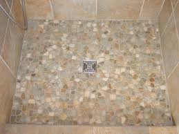 image of pebble tile shower floor color