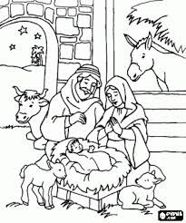 Nativity Scene Coloring Pages Nativity Scene Coloring Book