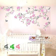 cherry blossom wall decals pink cherry blossom wall decals nursery white flowers vinyl decal tree birds sticker kids mural by japanese cherry blossom wall