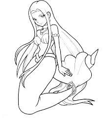 Free Mermaid Coloring Pages Mermaid Free Printable Mermaid Coloring
