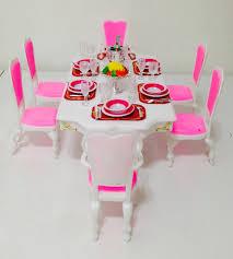amazoncom barbie size dollhouse furniture grand dining room play set toys games amazoncom barbie size dollhouse