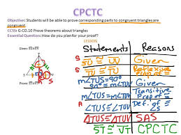 Congruent Parts Of Congruent Triangles Are Congruent Tags : Cpctc ...