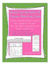 Weekly Student Goal Worksheet And Progress Self Monitoring Chart