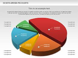 3d Pie Charts Collection Data Driven Presentation