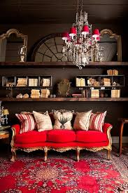 a red sofa in the living room trendy