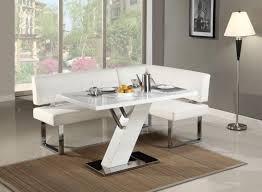 ... Dining Tables, Captivating White Rectangle Unique Marble Corner Dining  Table Varnished Design: best corner