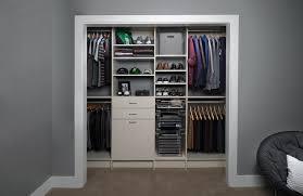 custom modern closet organization system for men
