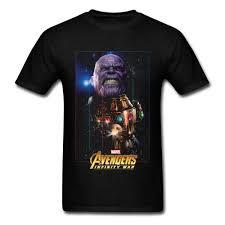 New Marvel Avengers Infinity War Thanos Men Shirt Comic Graphic Mens T Shirt Men 2018 New Fashion Printed Fashionable Round