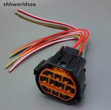 shhworldsea 1pcs 10 pin car headlight socket for hyundai kia k2 10 pin connector female at Universal Wiring Harness 10 Pin Connector