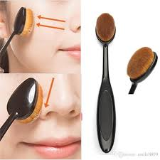 oval cream power makeup brush women pro cosmetic blush puff cosmetic foundation blend beauty brushes tools maquiagem brush for lady s makeup tips bridal