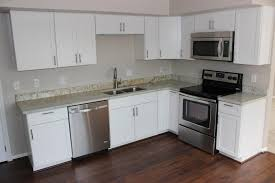 white shaker kitchen cabinets. White Shaker Cabinets With Appliances Kitchen