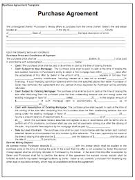 Purchase Contract Template Contract Templates