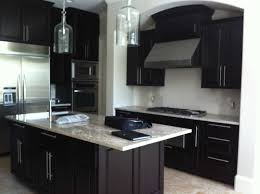 Cabinet And Lighting Black Cabinets And Island Dark Wooden Bar Stools White Pendant