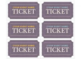 Avery Tickets Templates Compatible With Avery Ticket Template