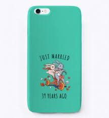 just married 39 years ago i phone case aqua t shirt front for iphone 6