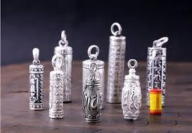 100 990 silver buddhist prayer box pendant pure silver tibetan gau box pendant real silver