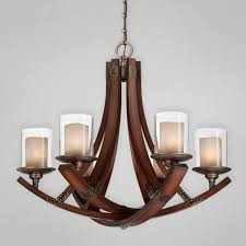 m iron and wood chandelier lighting in dark brown color scheme with glasetal candle cup 840x840