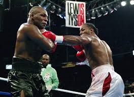 lennox lewis. lennox lewis went on to fight both mike tyson and evander holyfield