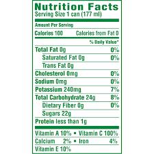 Booster Juice Nutrition Chart Dole 100 Pineapple Juice Canned Pineapple Juice 6 Oz 6
