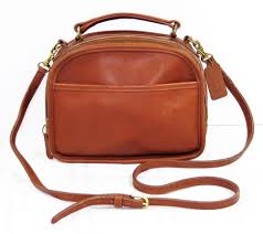 VINTAGE COACH LUNCH BOX SATCHEL CROSSBODY BAG BRITISH TAN LEATHER HANDBAG  PURSE  Coach  MessengerCrossBody