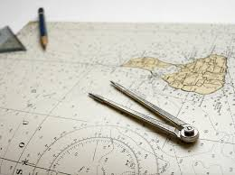 Nautical Chart Dividers Pencil Stock Image Image Of