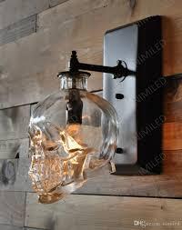 Outdoor Skull Lights 2019 Nimi602 Loft Personality Industrial Iron Glass Retro Bar Outdoor Wall Lamp Skull Wall Sconce Lights Hotel Ktv Bedroom Living Room Lighting From