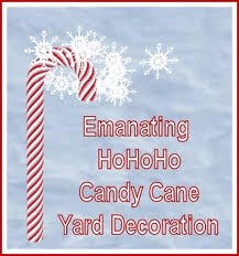 Candy Cane Yard Decorations Second Life Marketplace Emanating HoHoHo Candy Cane Yard Decoration 43