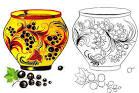 Посуды хохломы раскраски