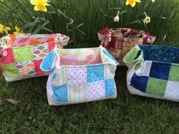 Custom, Hand-stitched, Quilted Fabric Basket (Medium) &  Adamdwight.com