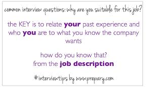 Common Interview Questions Why Are You Suitable For This Job The
