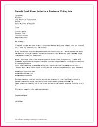 Email Cover Letter Example Bio Letter Format